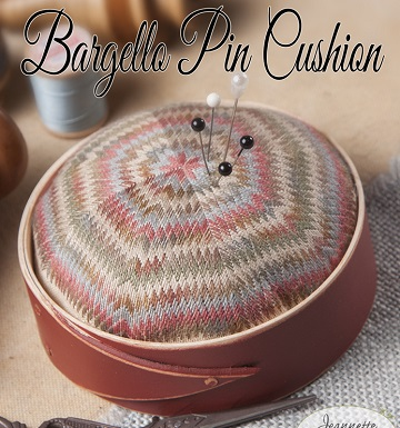 Bargello pincushion by Jeanette Douglas Designs