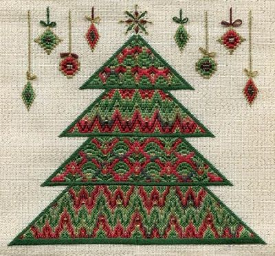 Bargello Christmas Tree by Laura J.Perin Designs