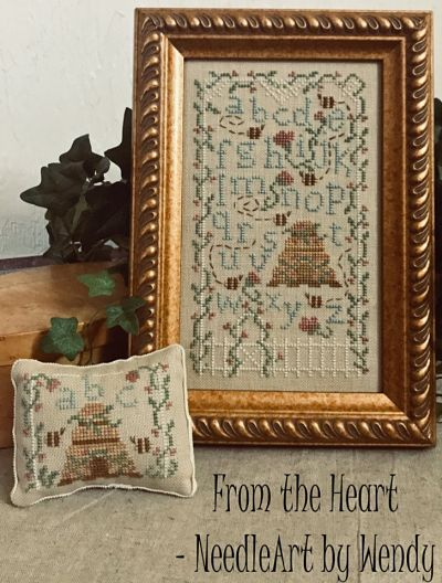 From the Heart Needleart by Wendy Bee Skep Garden