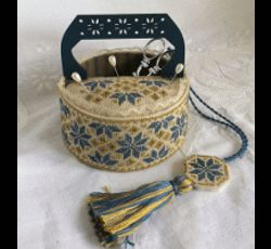 Blue Quaker Sewing Basket MDD-BQSB by Mani di Donna