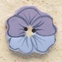 Debbie Mumm Buttons - 43182 - Blue & Lavender Pansy