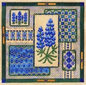 Bluebonnet Collage by Laura J.Perin Designs