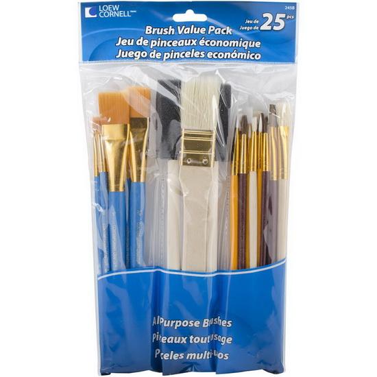 Loew Cornell Brush Set Value Pack 25pkg