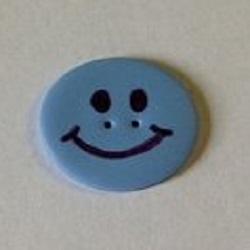 Stoney Creek - Button Pack - Happy Face Large Light Blue