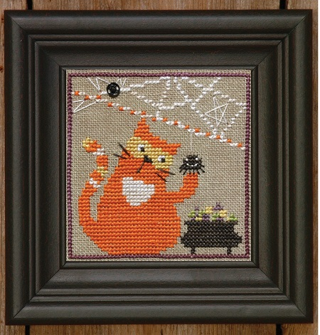 Bent Creek Spooky Spinners-Candy Corn Cat