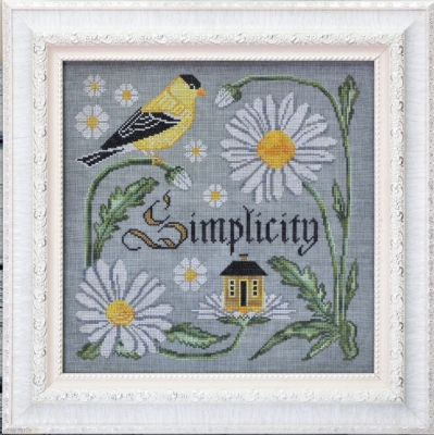 Songbird's Garden 9 - There IsBeauty In Simplicity by Cottage Garden Samplings