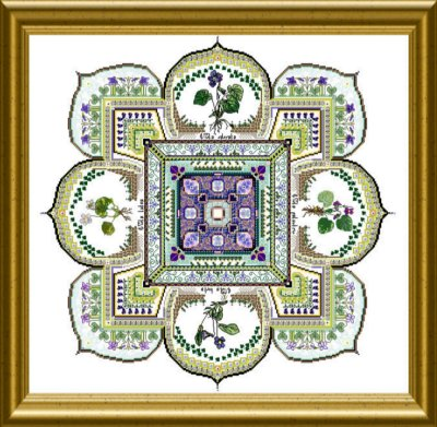 The Violet patch mandala by Chatelaine