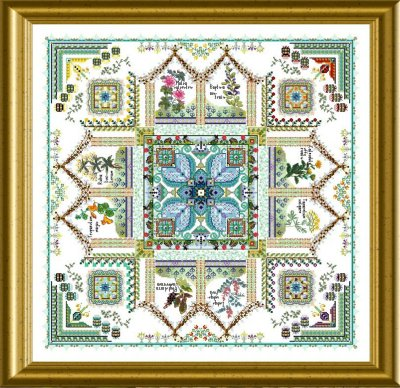 The Medieval Dyer's Garden Mandala (Tinctorium) by Chatelaine