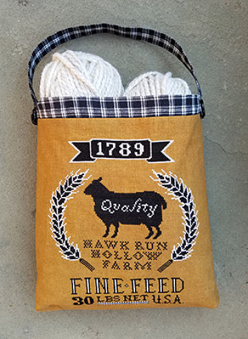 Sheep Feed Sack by Carriage House Samplings