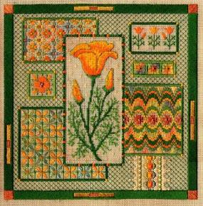 California poppy collage by Laura J.Perin Designs
