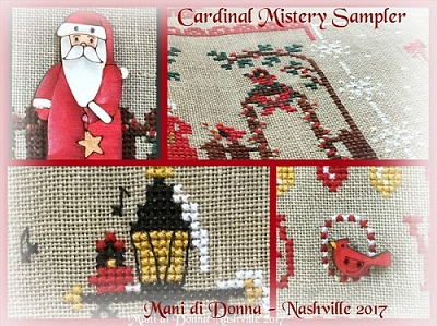 Cardinal Mystery Sampler Part 1 - In the Garden MDD-CMSPART1 by Mani di Donna