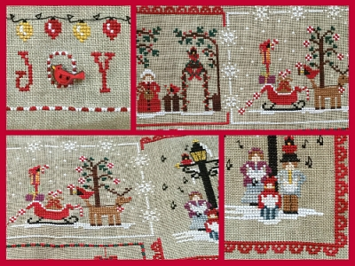 Cardinal Mystery Sampler Part 3 - Christmas Carols & Joy MDD-CMSPART3 by Mani di Donna