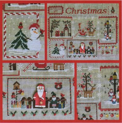 Cardinal Mystery Sampler Part 4 - Snowman & Santa Clause MDD-CMSPART4 by Mani di Donna