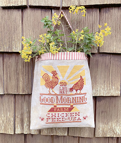 Chicken Feed Sack by Carriage House Samplings