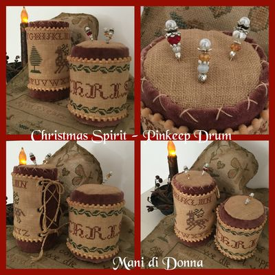 Christmas Spirit Drum Pinkeep MDD-CSDP by Mani di Donna