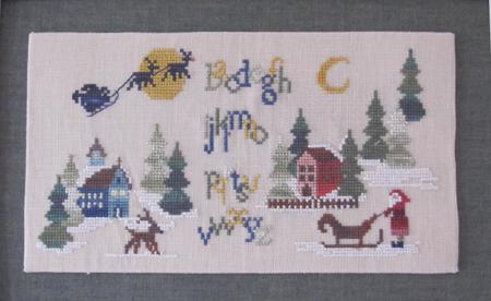 Christmas Woodland Sampler MDD-CWS by Mani di Donna