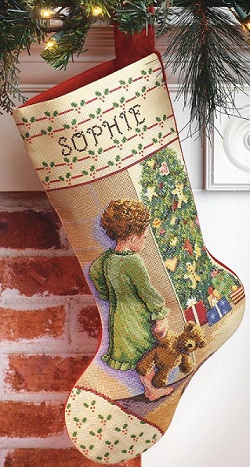 Christmas morning stocking by Janlynn