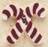 Debbie Mumm Buttons - 43164 - Crossed Candy Cane