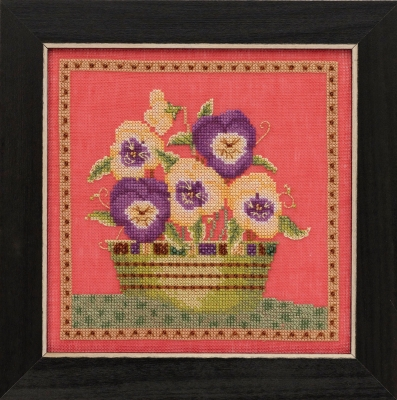 Pansies - Blooms & Blossoms,DM301911,by Debbie Mumm