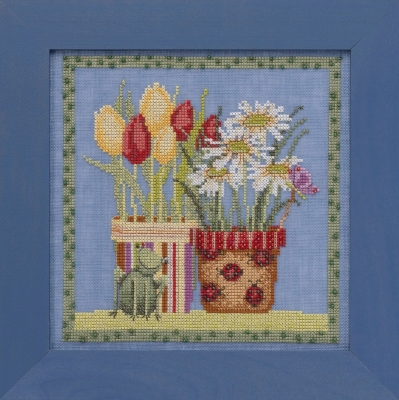 Tulips & Daisies - Blooms & Blossoms,DM301912,by Debbie Mumm