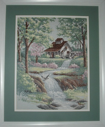 Peaceful Stream -stitched design