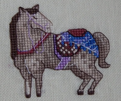 The Grey Horse-Nine Horses Galore by Madame Needle