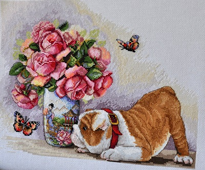 Bulldog and Butterflies,K-94,by Merejka