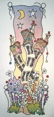 Michael Powell Art Dancing Houses - MPCP82
