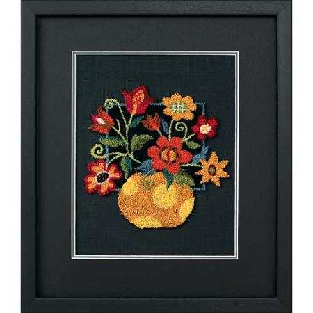 Floral on black-73222- by Dimensions