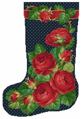 Ellen Maurer-Stroh Rose Stocking No 1
