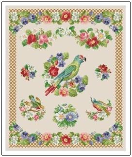 Ellen Maurer-Stroh Sampler - Parrot
