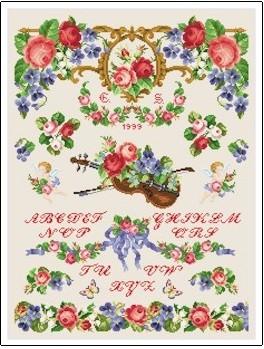 Ellen Maurer-Stroh  Sampler - Victorian