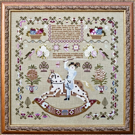 Eliza Skelton 1820 by Hands Across the Sea Samplers