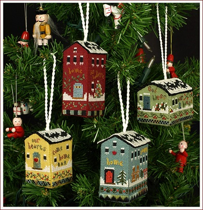 The Victoria Sampler Little House ornaments