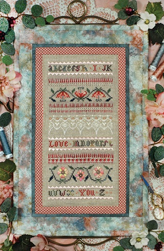 The Victoria Sampler Beautiful Finishing 15 - I Love You Quilted Bellpull Leaflet