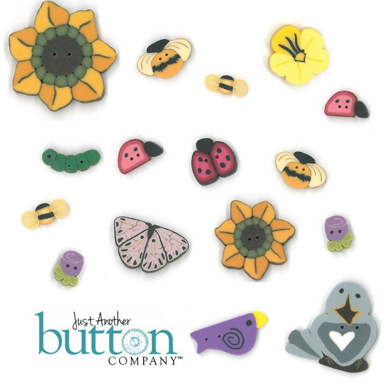BUTTON PACK - FLOWER SONG - Praiseworthy Stitches