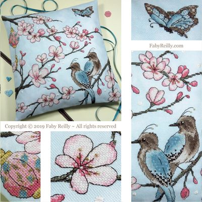 Faby Reilly Designs Cherry Blossom Cushion