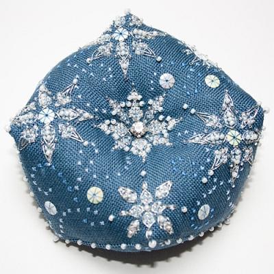 Faby Reilly Designs Let it Snow Biscornu