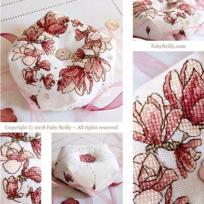Faby Reilly Designs Magnolia Biscornu