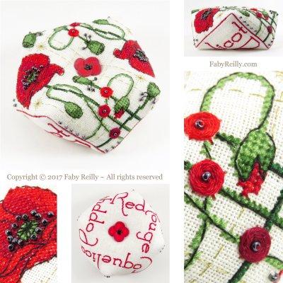 Faby Reilly Designs Poppy Biscornu