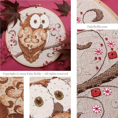 Faby Reilly Designs Sparkly Owl Hoop