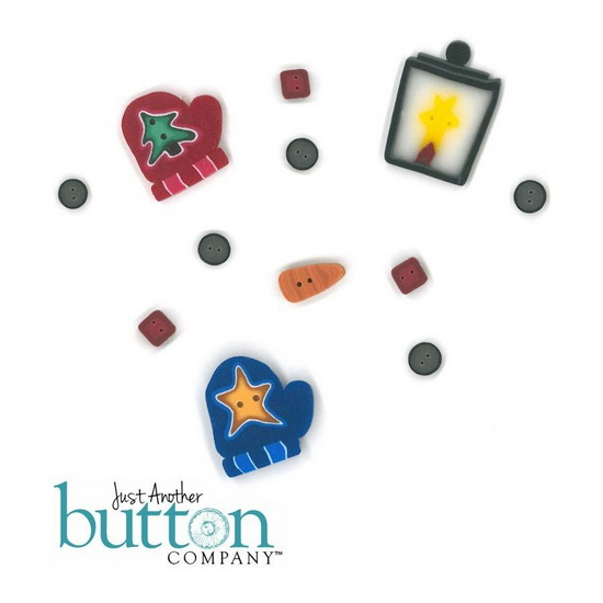 BUTTON PACK - FROSTY FRIENDS - Praiseworthy Stitches