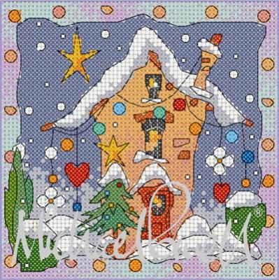 Festive Village House - MPCP126 - Michael Pawell Art