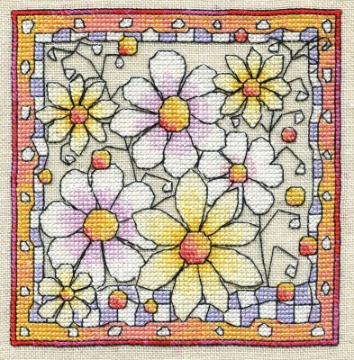 Michael Powell Art Flowers with Border - MPCP117