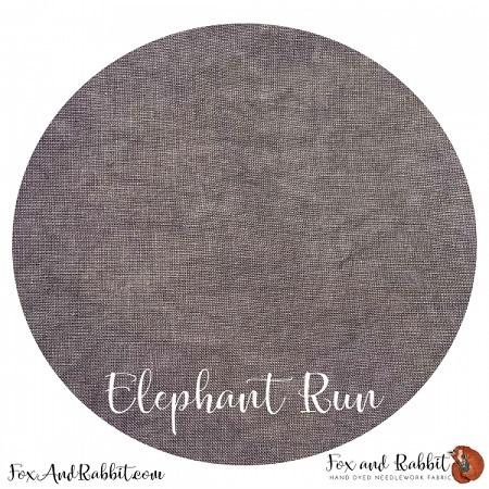 FOX AND RABBIT- ELEPHANT RUN 32 CT,17 X 26