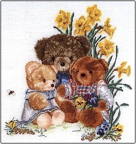 Teddy Bears & Flowers,GOK2048,Thea Gouverneur