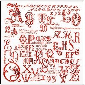 Sampler - Letters,GOK2093,Thea Gouverneur