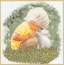 Little Boy with Bunny,GOK1046,Thea Gouverneur