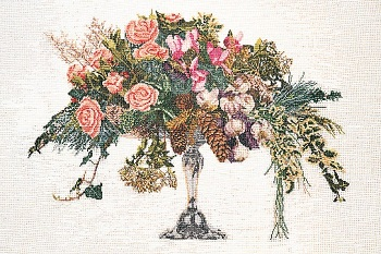 Thea Gouverneur GOK1085 Roses in a vase