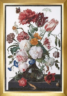 Still Life with Flowers Glass Vase,GOK785,Thea Gouverneur